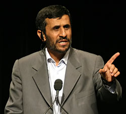 Mahmoud Ahmadinejad is Iran\'s President; he and his country are outspoken in their support for financial, military, and political support for Hamas\' terrorism