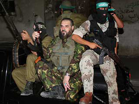 Nizar Rayan, a senior Hamas military figure on terror training excercises in Gaza